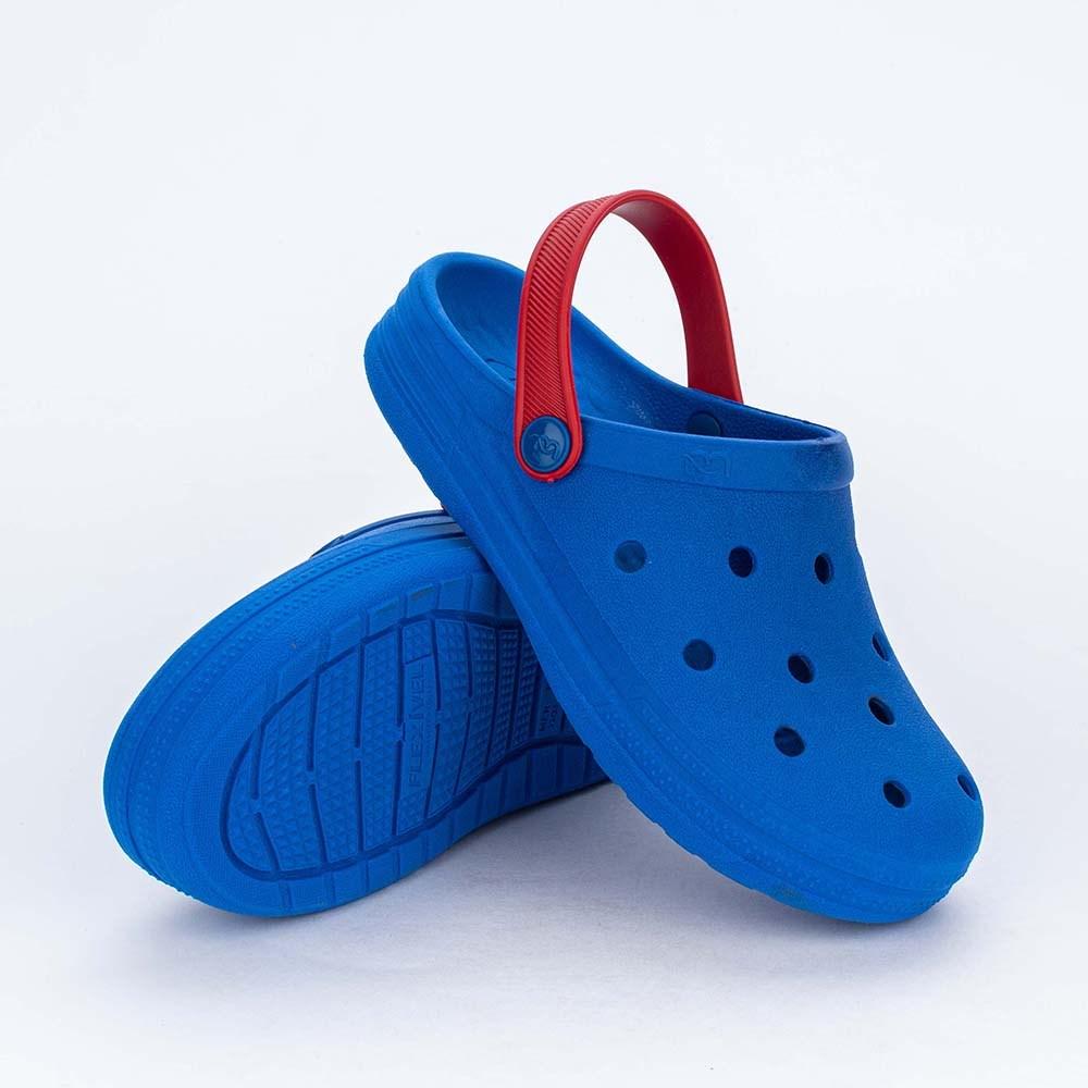Babuche Infantil Menino Mar e Cor Azul Royal com Carrinho