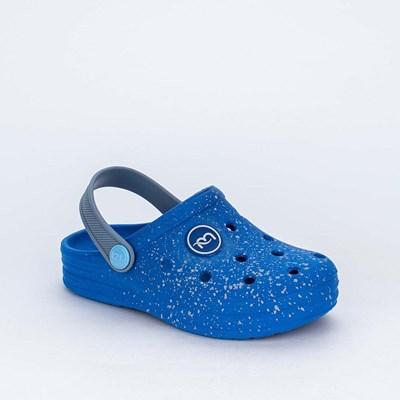 Babuche Infantil para Meninos Aquarela Mar e Cor Azul Royal