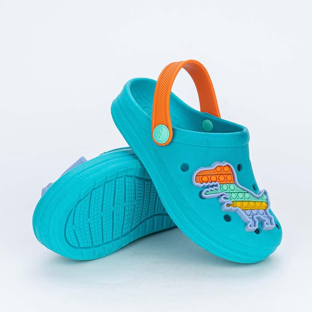 Babuche Infantil para Meninos Mar e Cor Pop It Verde Piscina