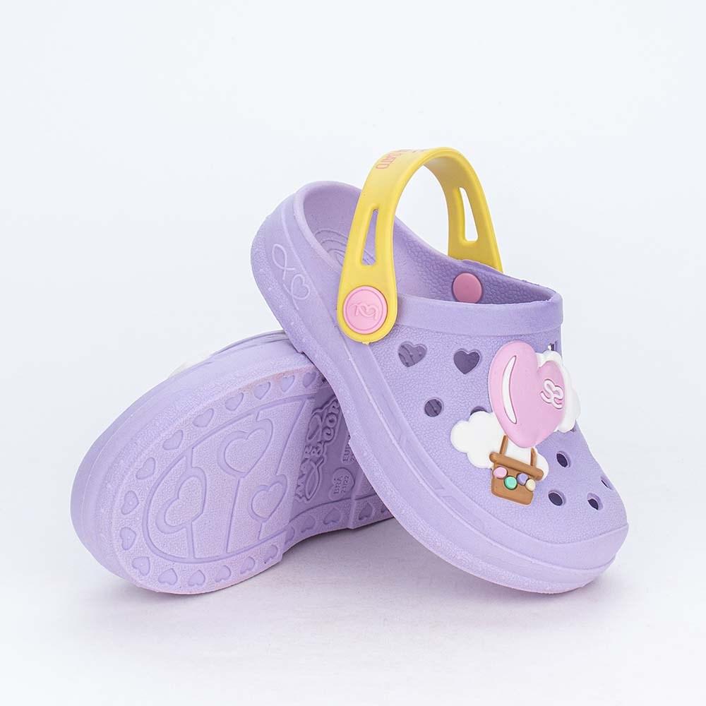 Babuche para Bebê Menina Aquarela Sabrina Sato Lilás Balão