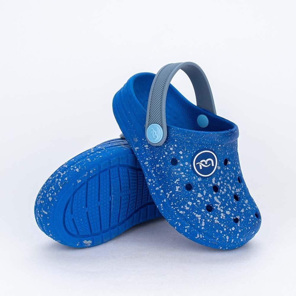 Babuche para Bebê Menino Aquarela Mar e Cor Azul Royal