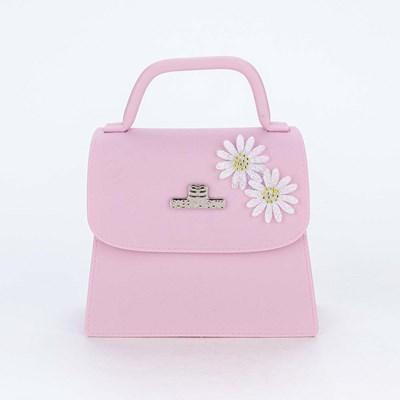 Bolsa para Meninas Sabrina Sato Nude com Aplique de Flores