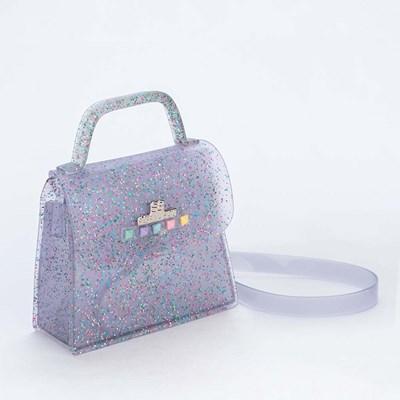 Bolsa para Meninas Sabrina Sato Transparente com Glitter