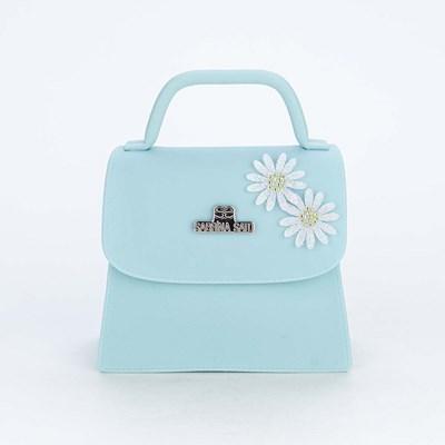 Bolsa para Meninas Sabrina Sato Verde com Aplique de Flores