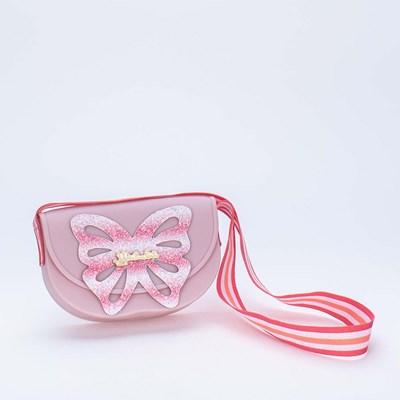 Bolsa Valentina Pontes by Kidy com Asas de Glitter Rosa Nude