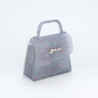 Bolsa Valentina Pontes by Kidy Transparente Glitter Colorido