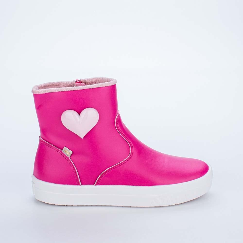 Bota Infantil Feminina Fun com Coração Pink