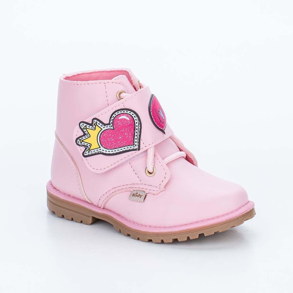 Bota Infantil Feminina Kidy Fashion Baby Rosa