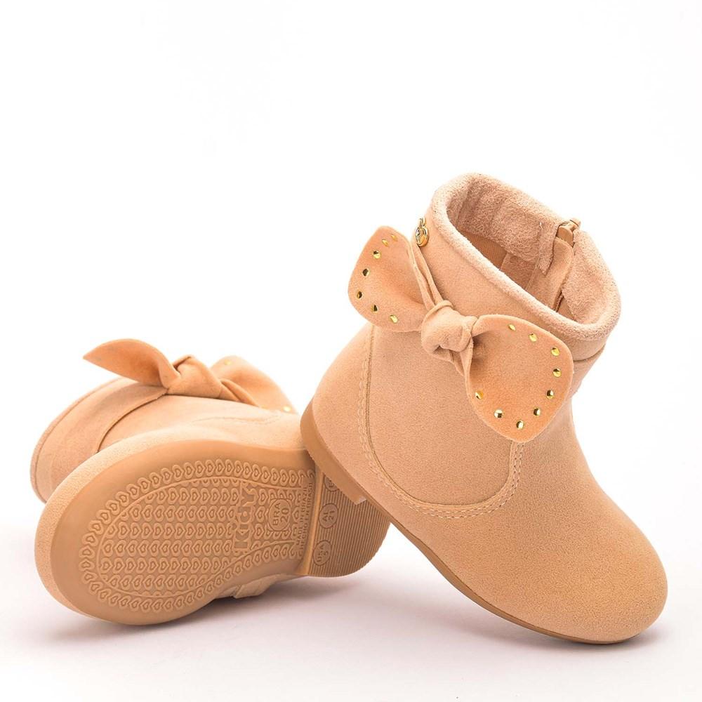 Bota Infantil Feminina Soft com Laço Pérola