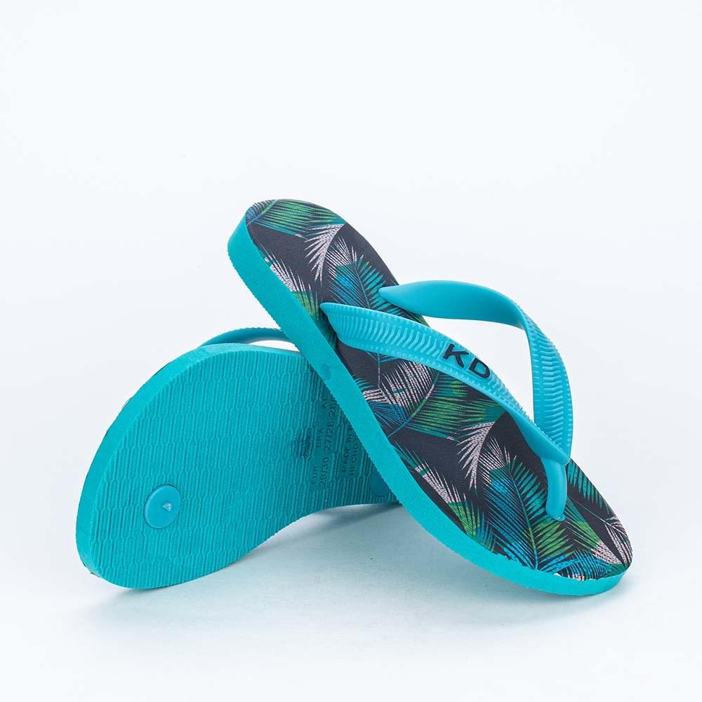 Chinelo de Dedo Kidy Summer para meninos Verde e Azul