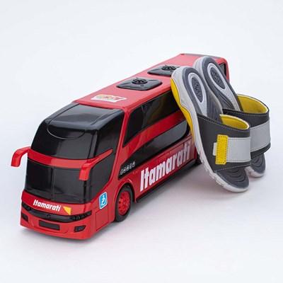 Chinelo Slide Kidy Wave Chumbo com Ônibus para brincar