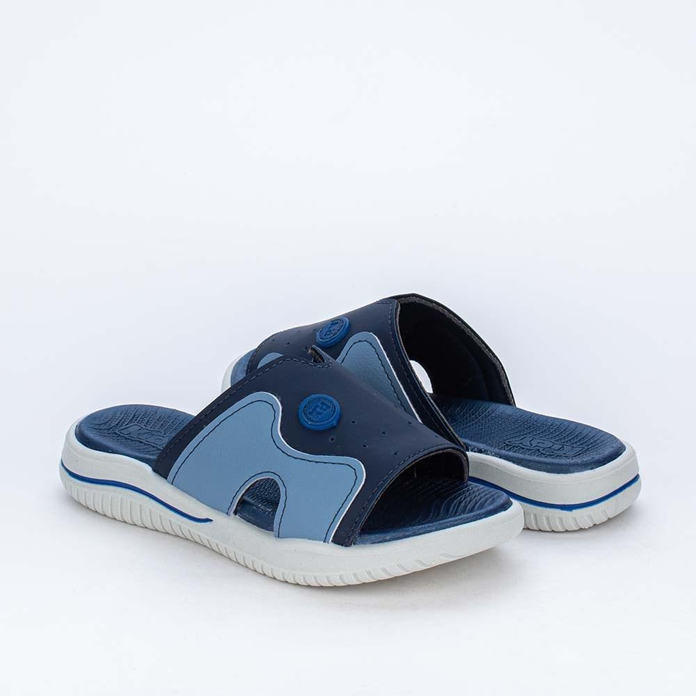 Chinelo Slide Ultra Leve Kidy Fly Marinho e Azul