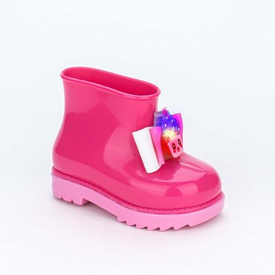 Galocha para Meninas Mar e Cor com Cupcake de Led Pink
