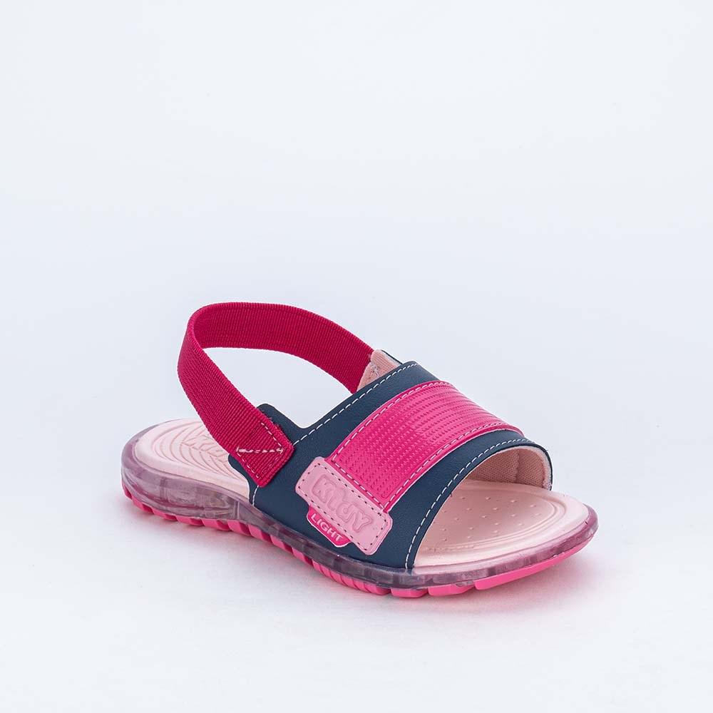 Papete de Led Infantil Feminina Kidy Light Marinho e Pink