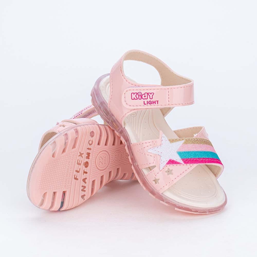 Papete de Led Infantil Feminina Kidy Light Rosa e Arco Íris