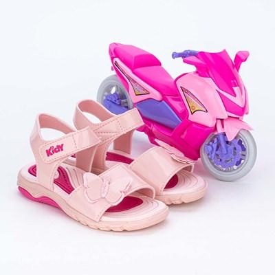 Papete Infantil com Borboleta Rosa e Scooter para brincar