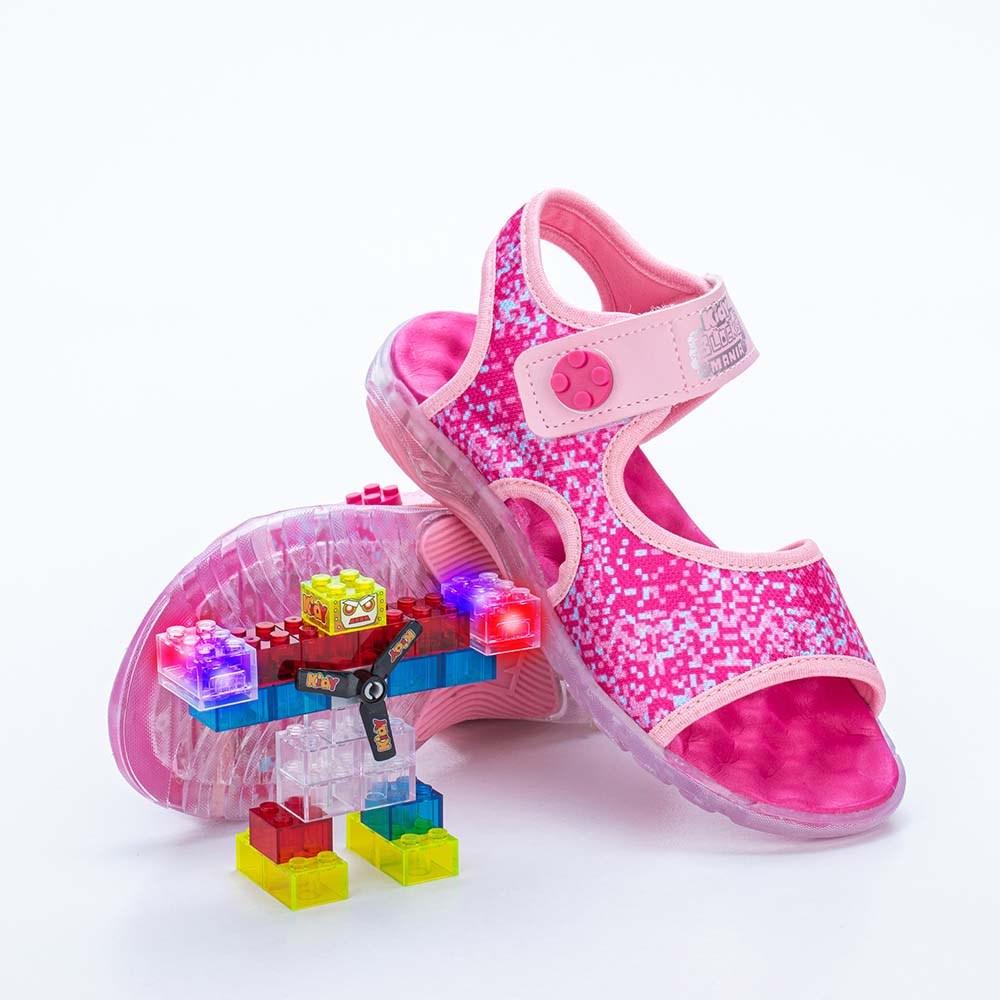 Papete Infantil Feminina Kidy Blocks Mania Rosa e Pink  com brinquedo