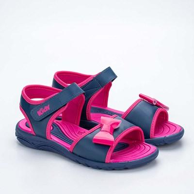 Papete Infantil Feminino Kidy Wave Marinho e Pink