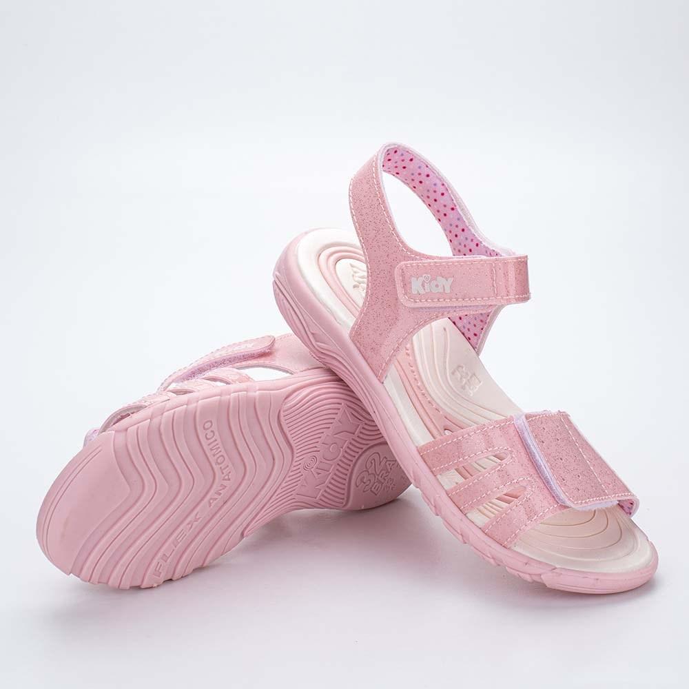 Papete Infantil Feminino Kidy Wave Nude Glitter