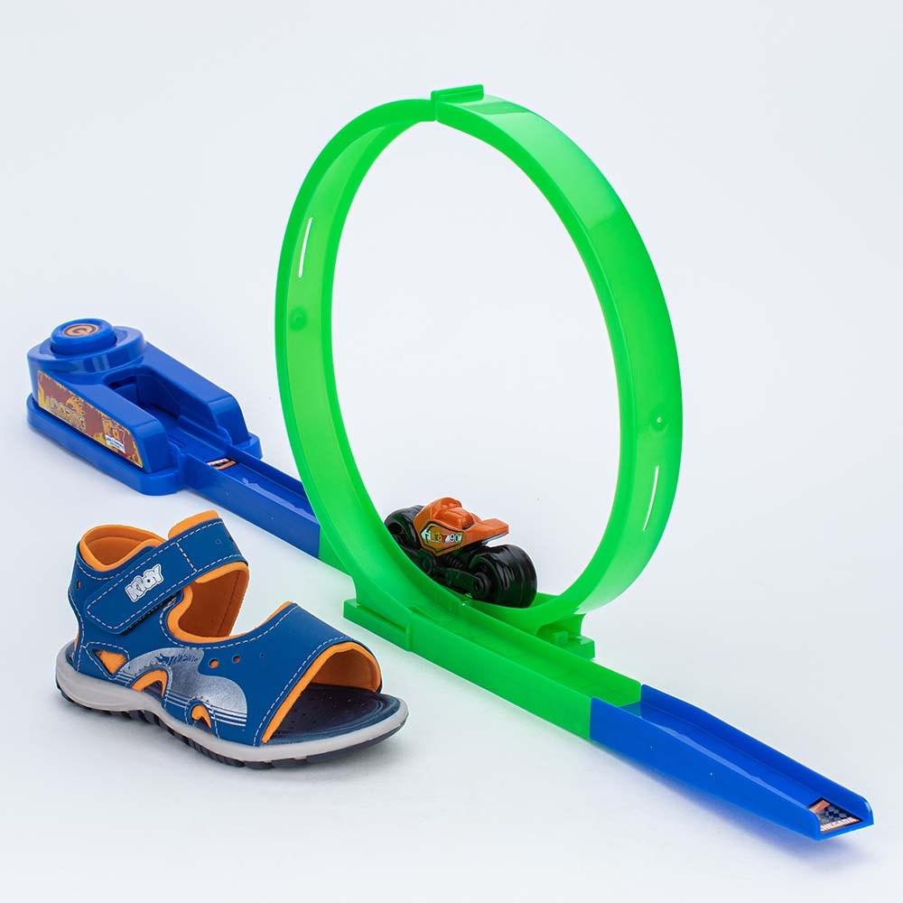 Papete Infantil Kidy Azul e Laranja com Brinquedo Looping