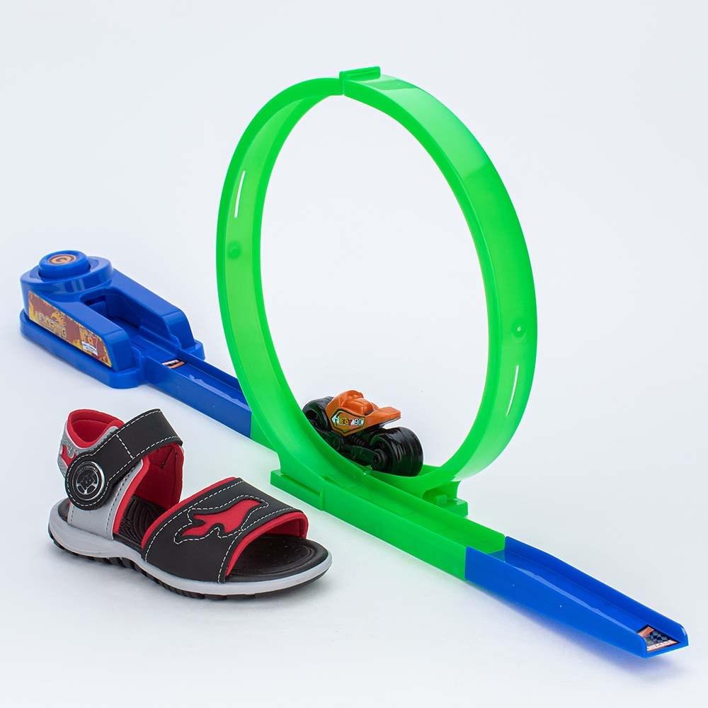 Papete Infantil Kidy Preto e Vermelho com Brinquedo Looping