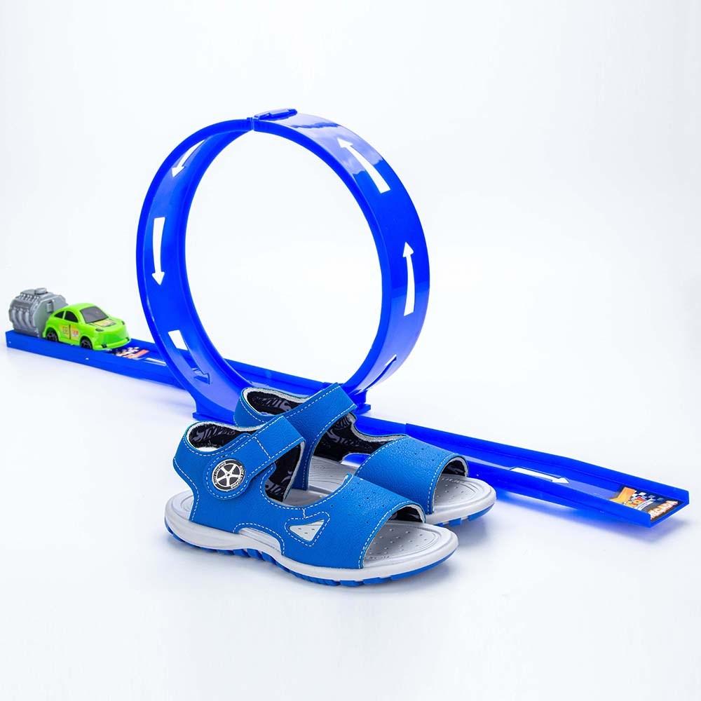 Papete Infantil Masculina Kidy Looping Azul Royal e Marinho  com brinquedo