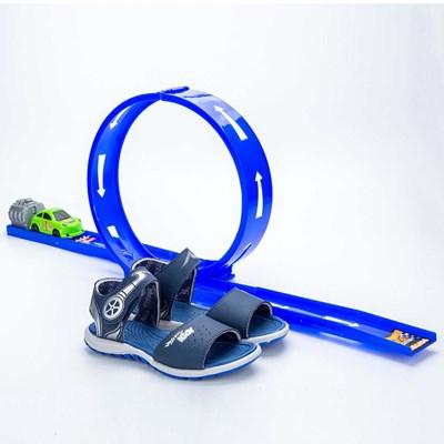 Papete Infantil Masculina Kidy Looping Azul Royal e Preto  com brinquedo