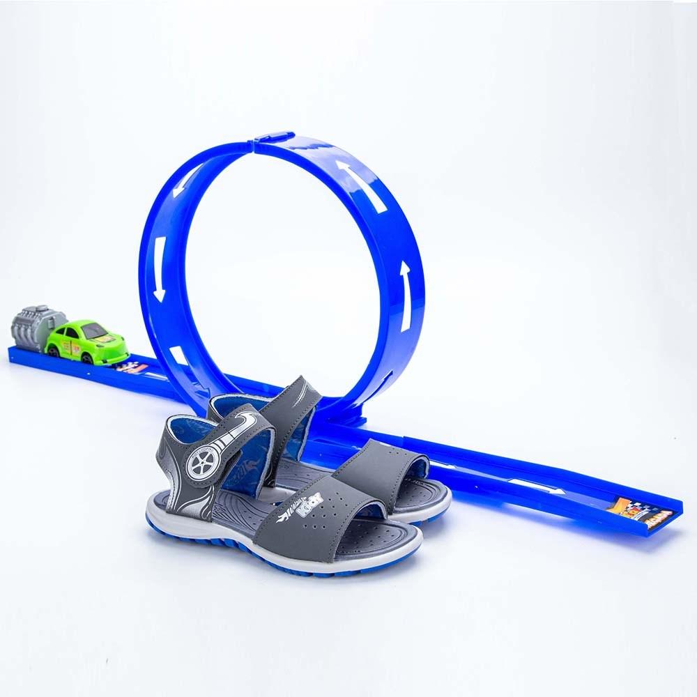 Papete Infantil Masculina Kidy Looping Grafite e Azul Royal  com brinquedo