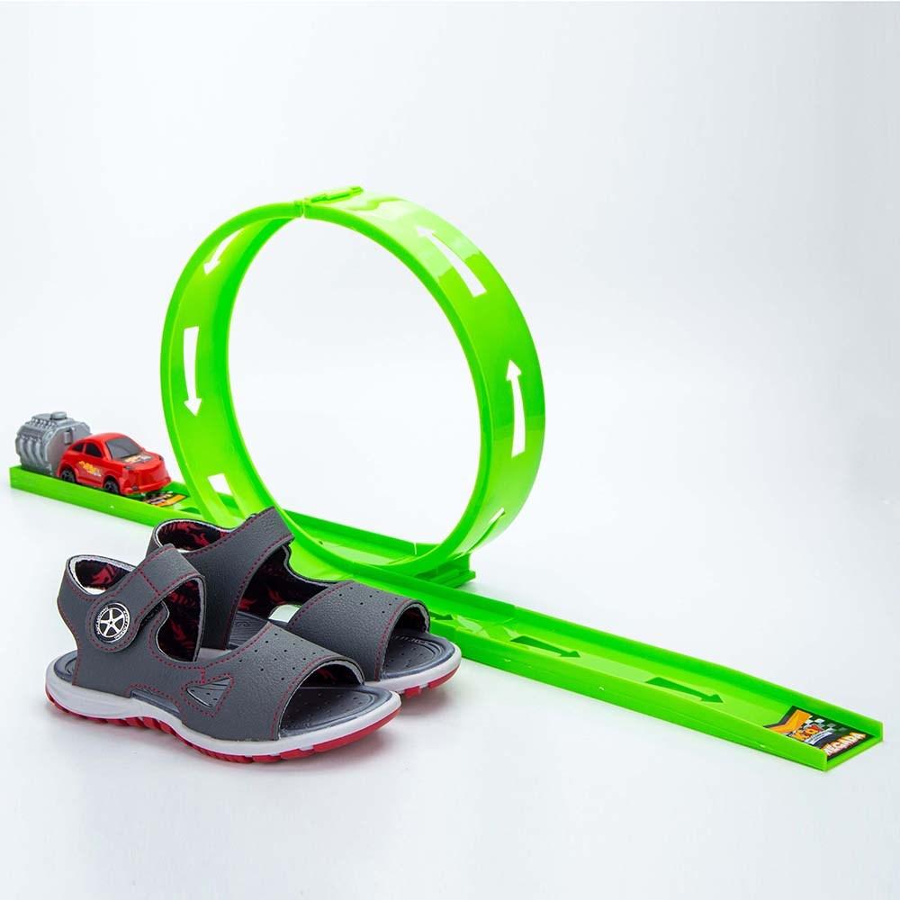Papete Infantil Masculina Kidy Looping Grafite e Preto e Vermelho  com brinquedo