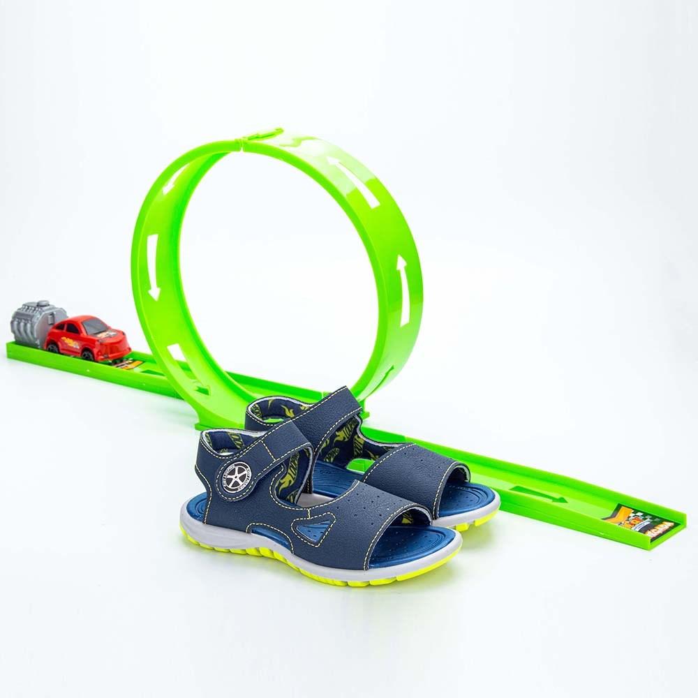 Papete Infantil Masculina Kidy Looping Marinho e Amarelo Neon  com brinquedo