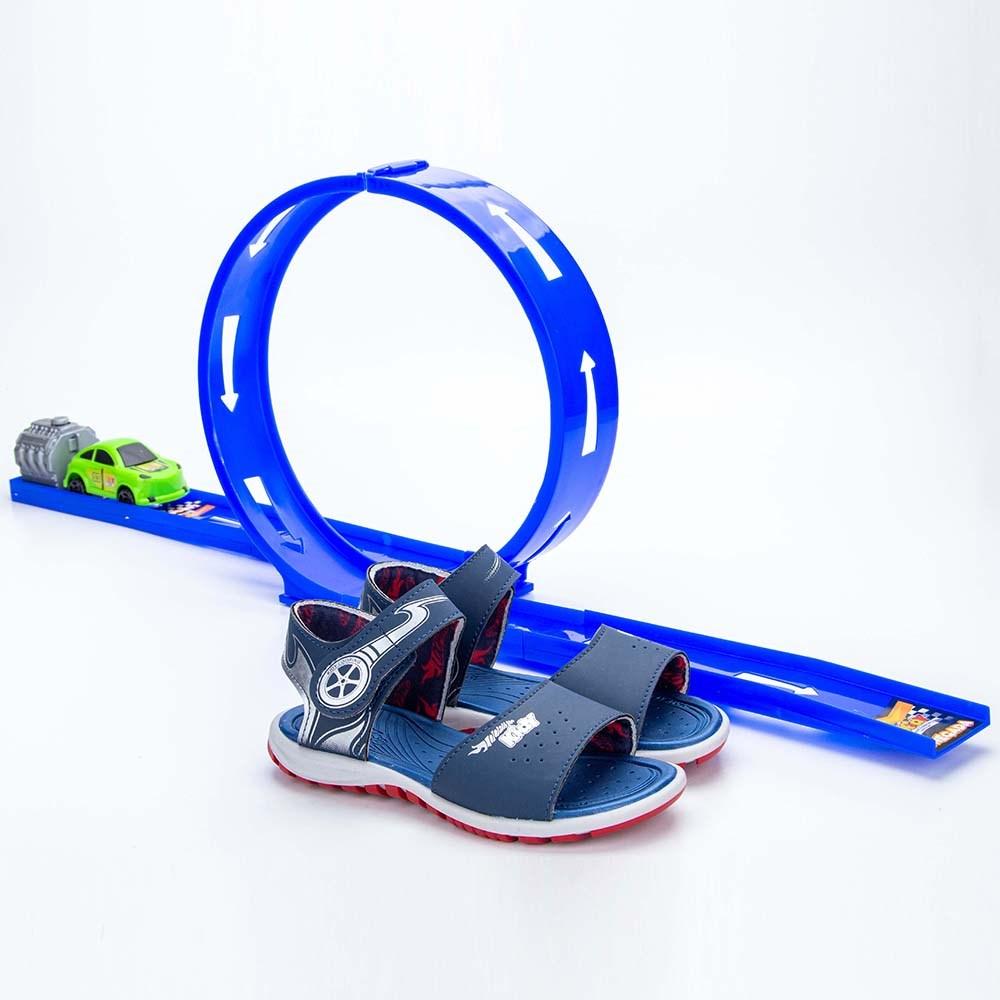 Papete Infantil Masculina Kidy Looping Marinho e Vermelho  com brinquedo