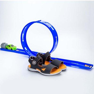 Papete Infantil Masculina Kidy Looping Preto e Laranja  com brinquedo