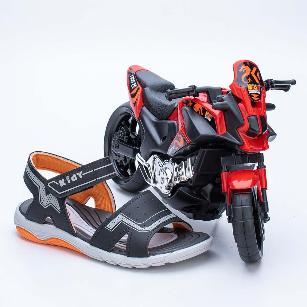 Papete Infantil Masculino Wave Preto e Laranja com Moto
