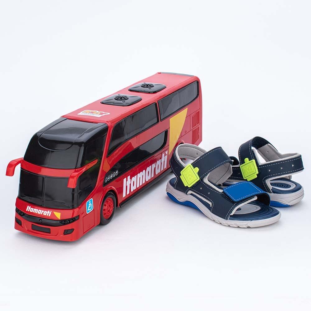 Papete Infantil Wave Marinho e Royal com Ônibus para brincar