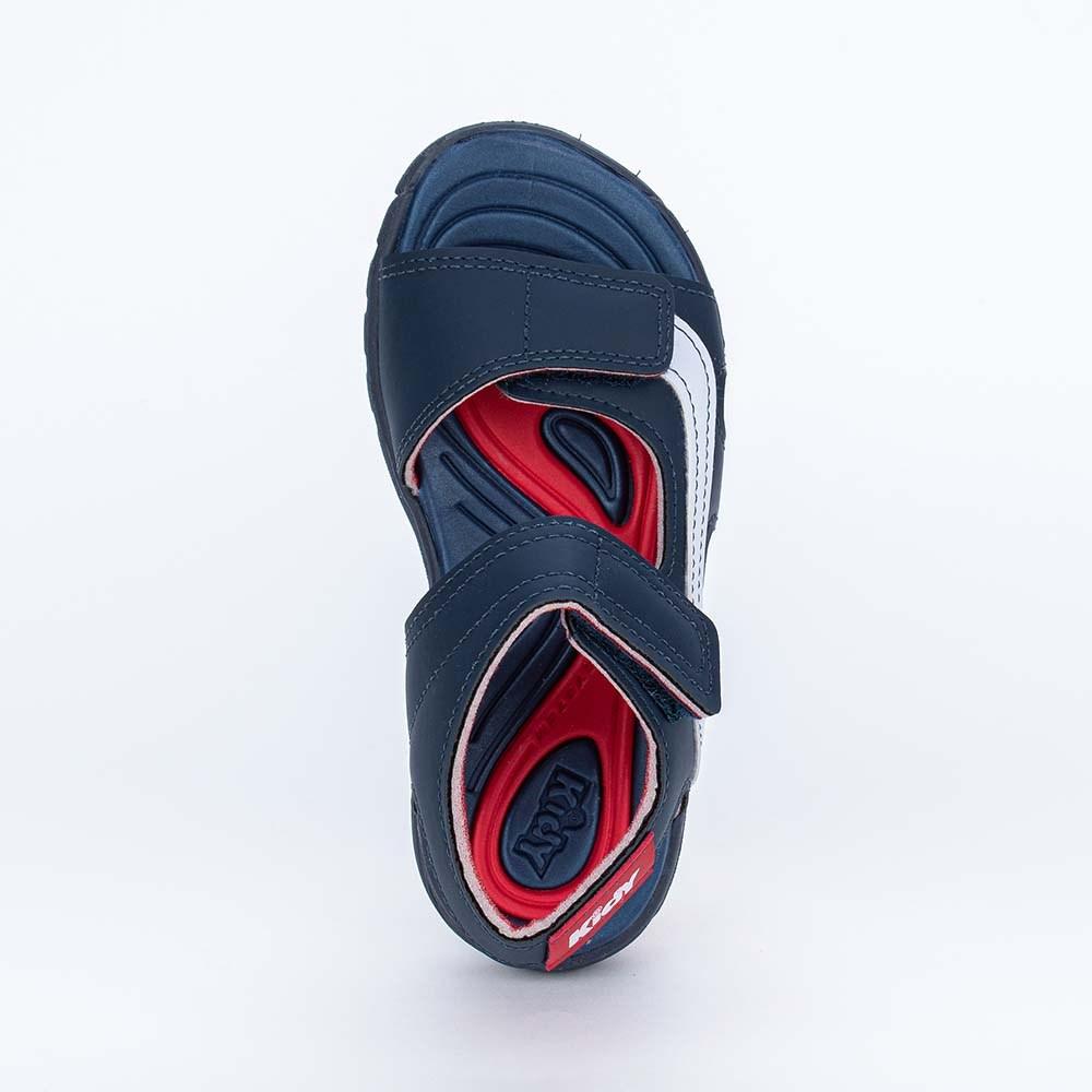 Papete Infantil Wave Marinho e Vermelho com Ônibus
