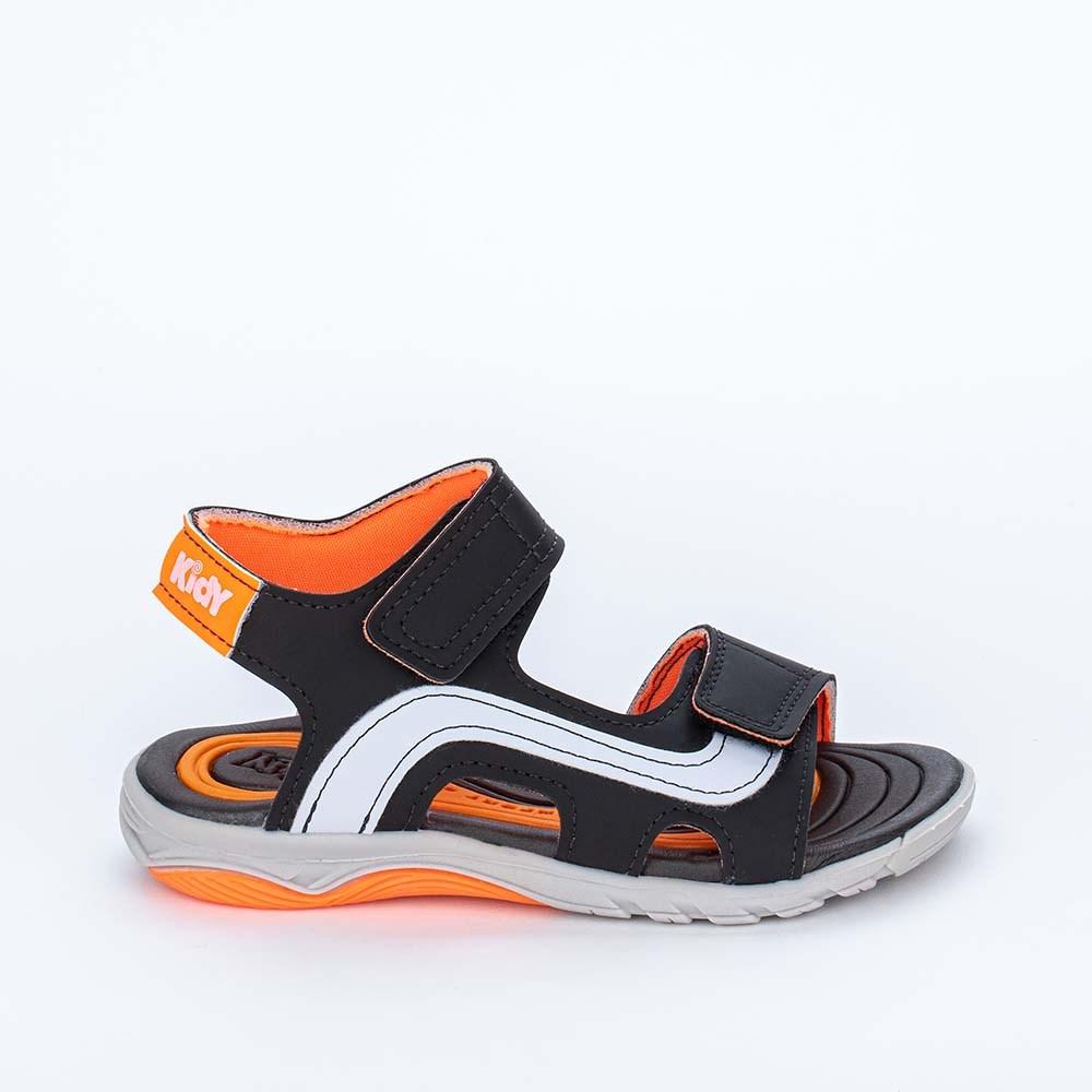 Papete Infantil Wave Preto e Laranja Neon com Ônibus