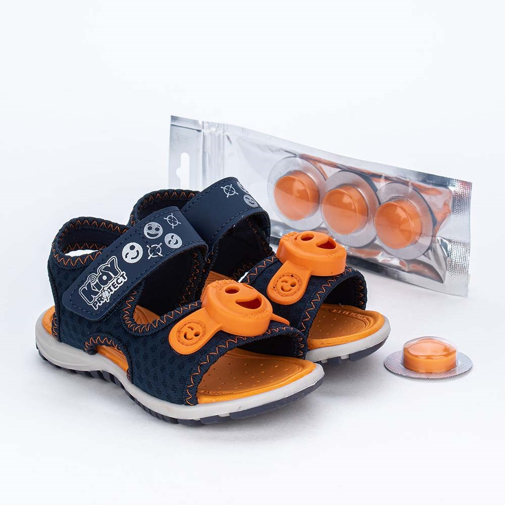 Papete Primeiros Passos Kidy Protect com Repelente Laranja