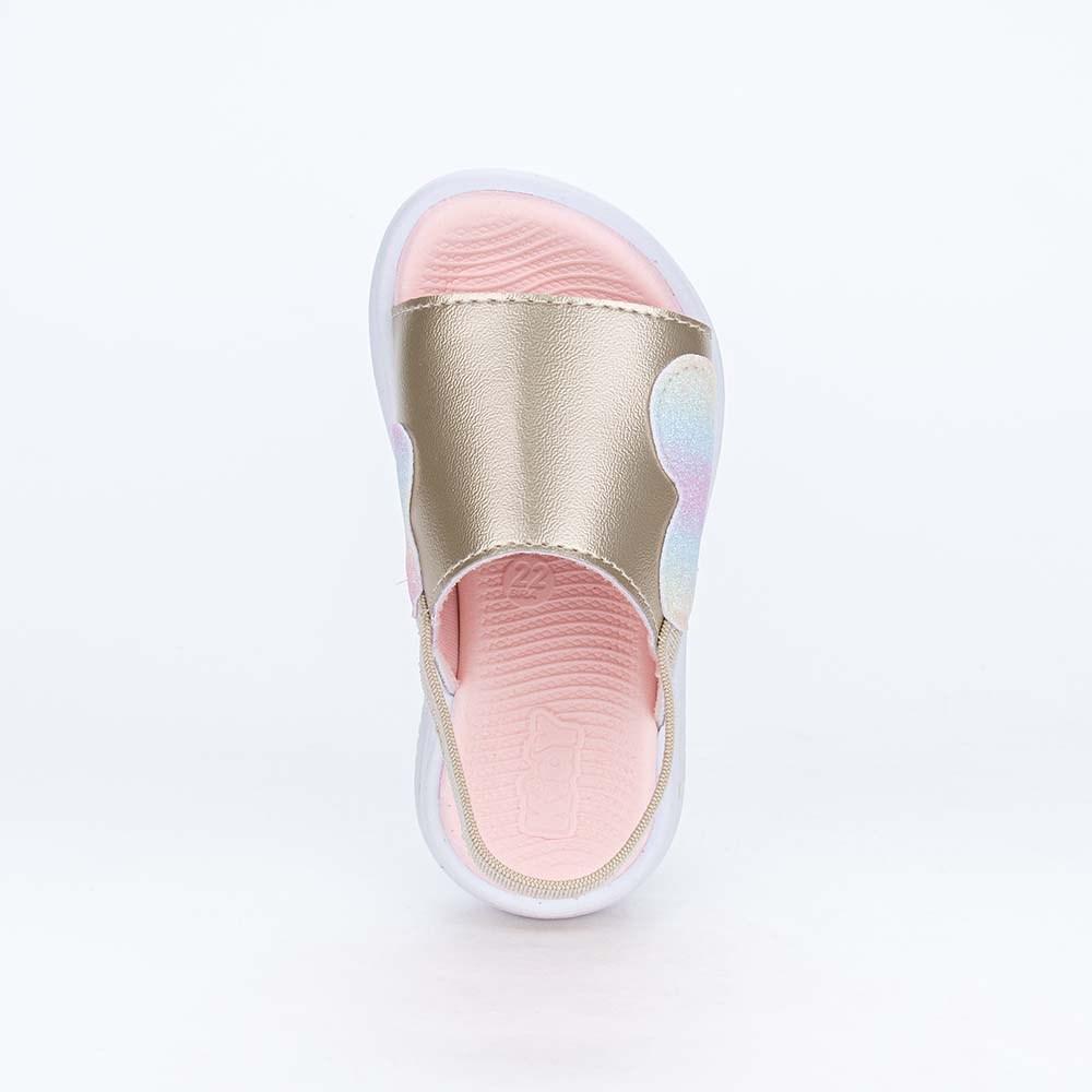 Papete Ultra Leve Fly Menina Dourada com Coração de Glitter