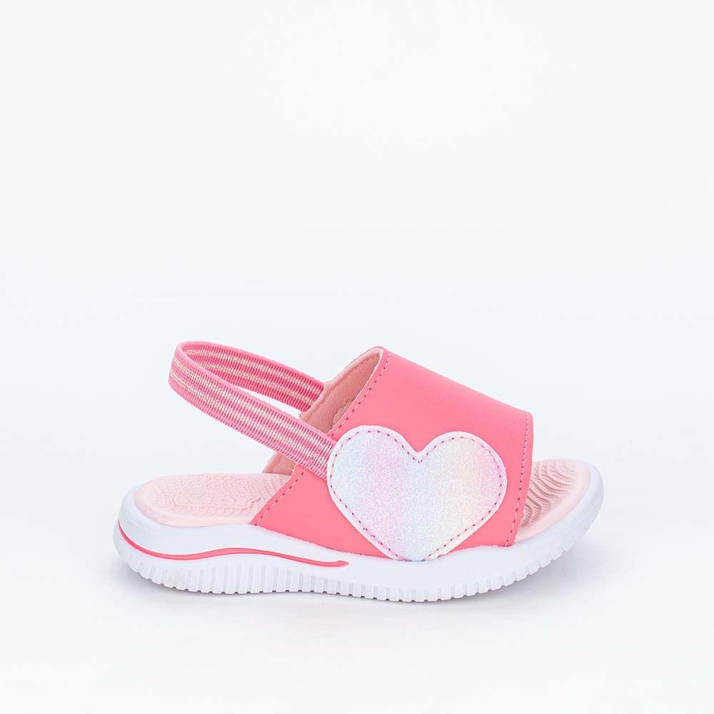 Papete Ultra Leve Fly Menina Rosa com Coração de Glitter