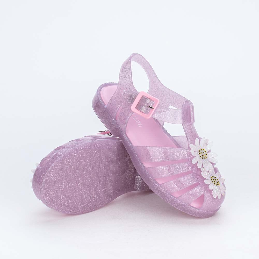 Sandália Arco Íris Menina Sabrina Sato Rosa com Glitter