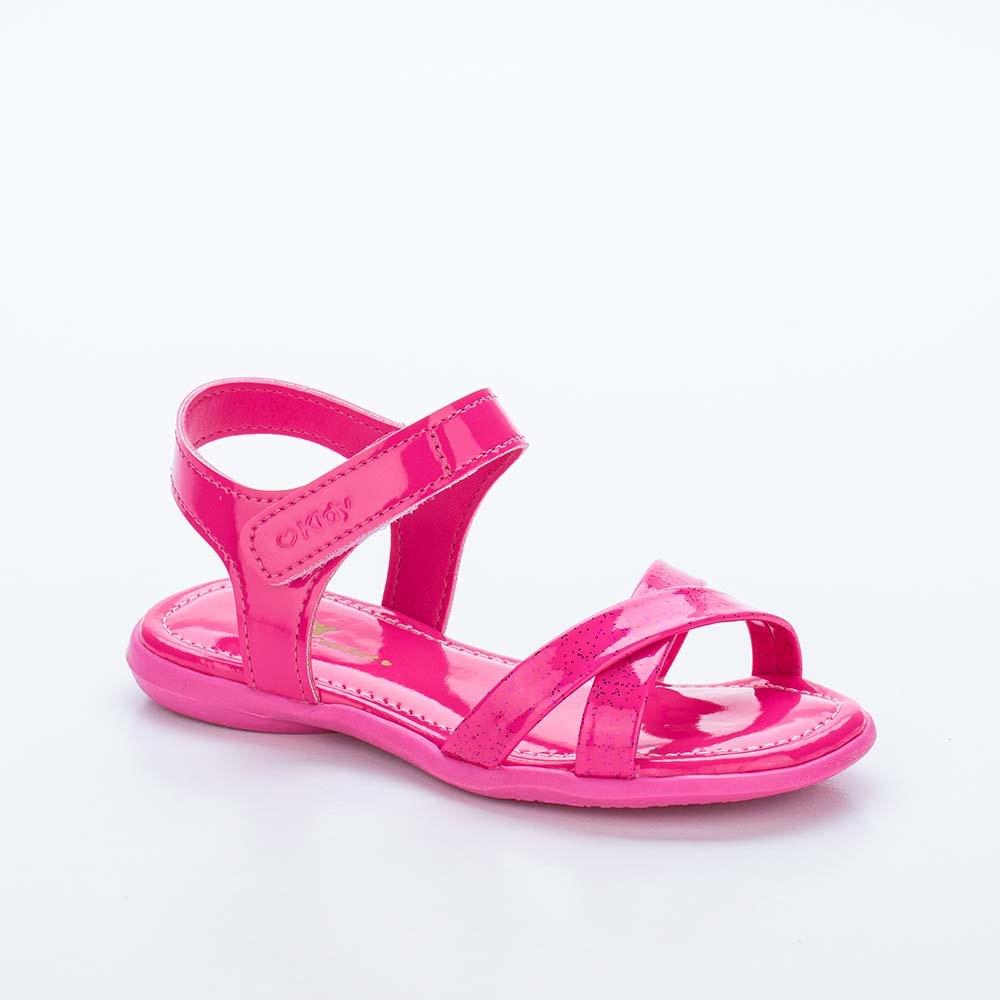 Sandália Baby Menina Equilíbrio em Tiras com Glitter Pink