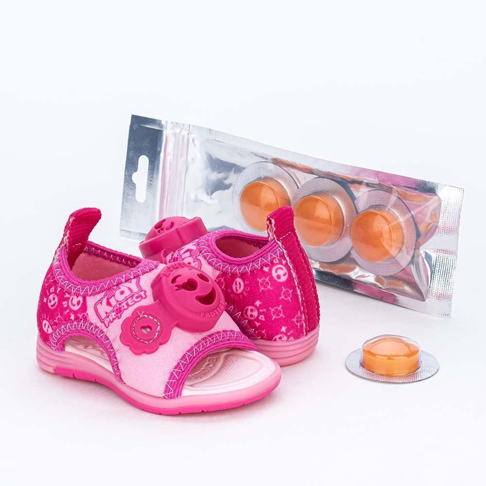 Sandália Bebê Kidy Protect com Repelente Rosa e Pink