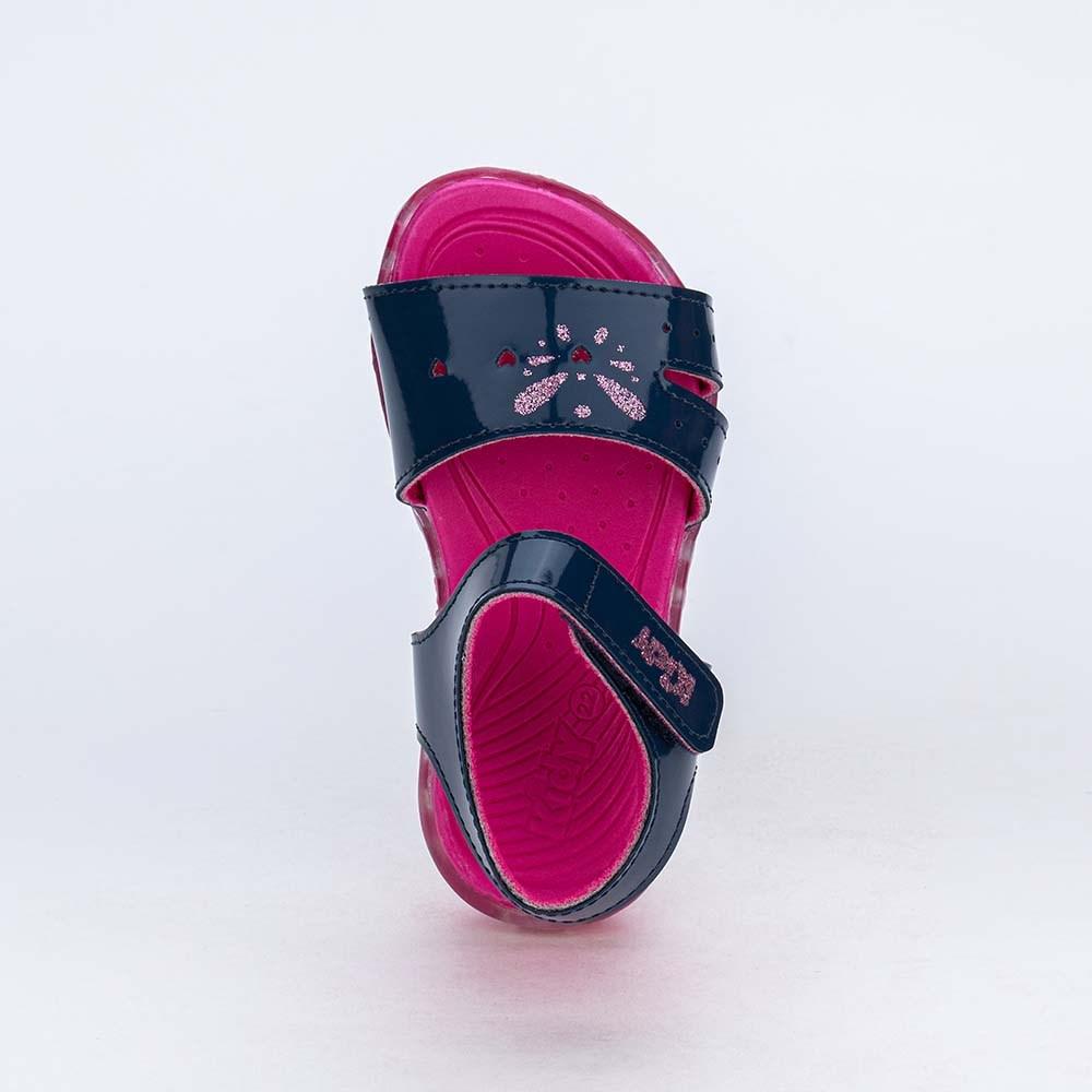 Sandália de Led Infantil Feminina Kidy Light Marinho e Pink