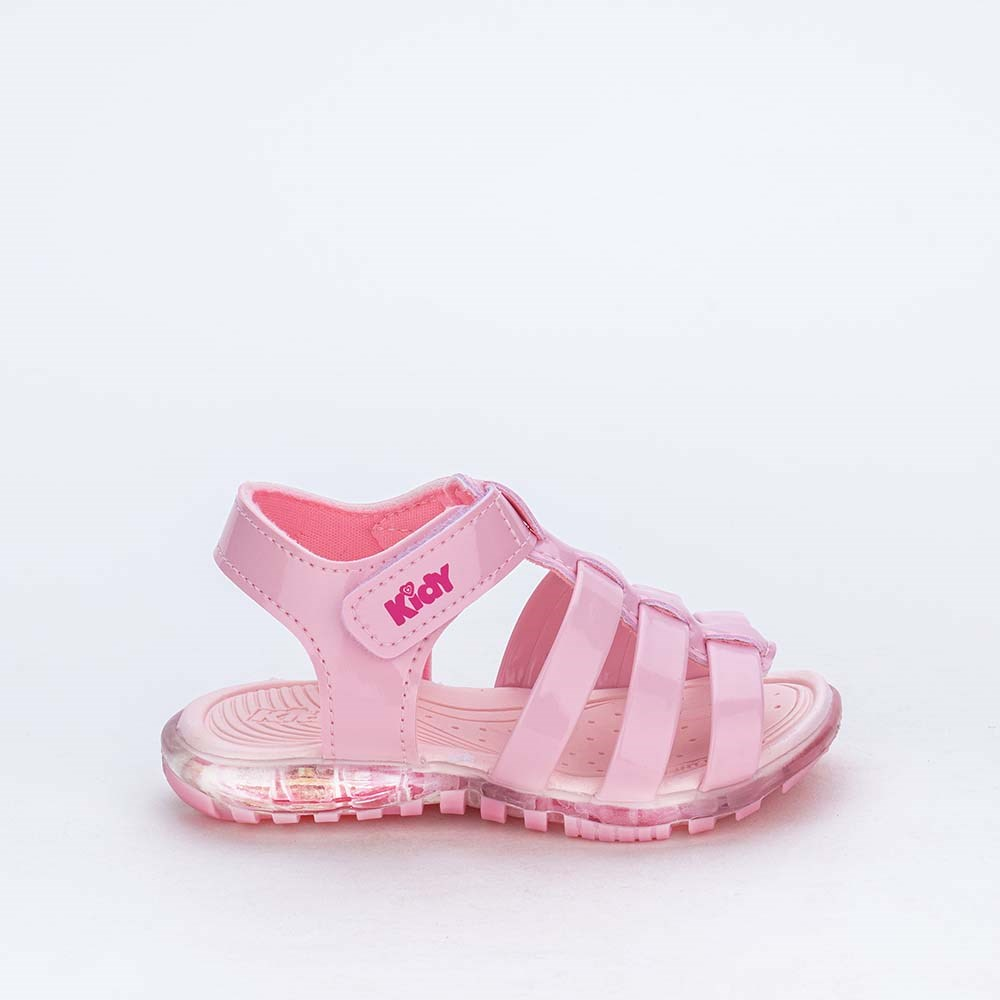 Sandalia de Led Infantil para Meninas Kidy Light Rosa