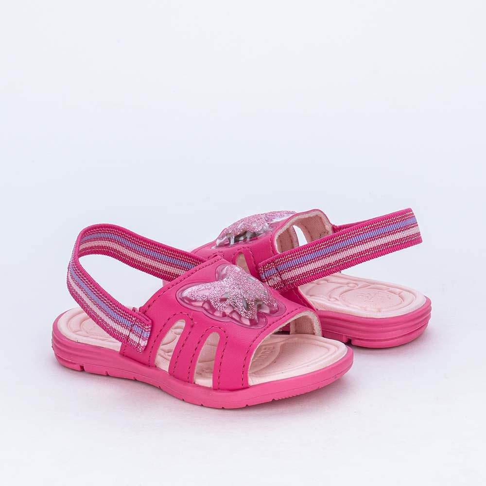 Sandália de Led para Bebês Kidy com Borboleta de Luz Pink