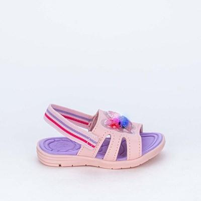 Sandália de Led para Bebês Kidy com Borboleta de Luz Rosa