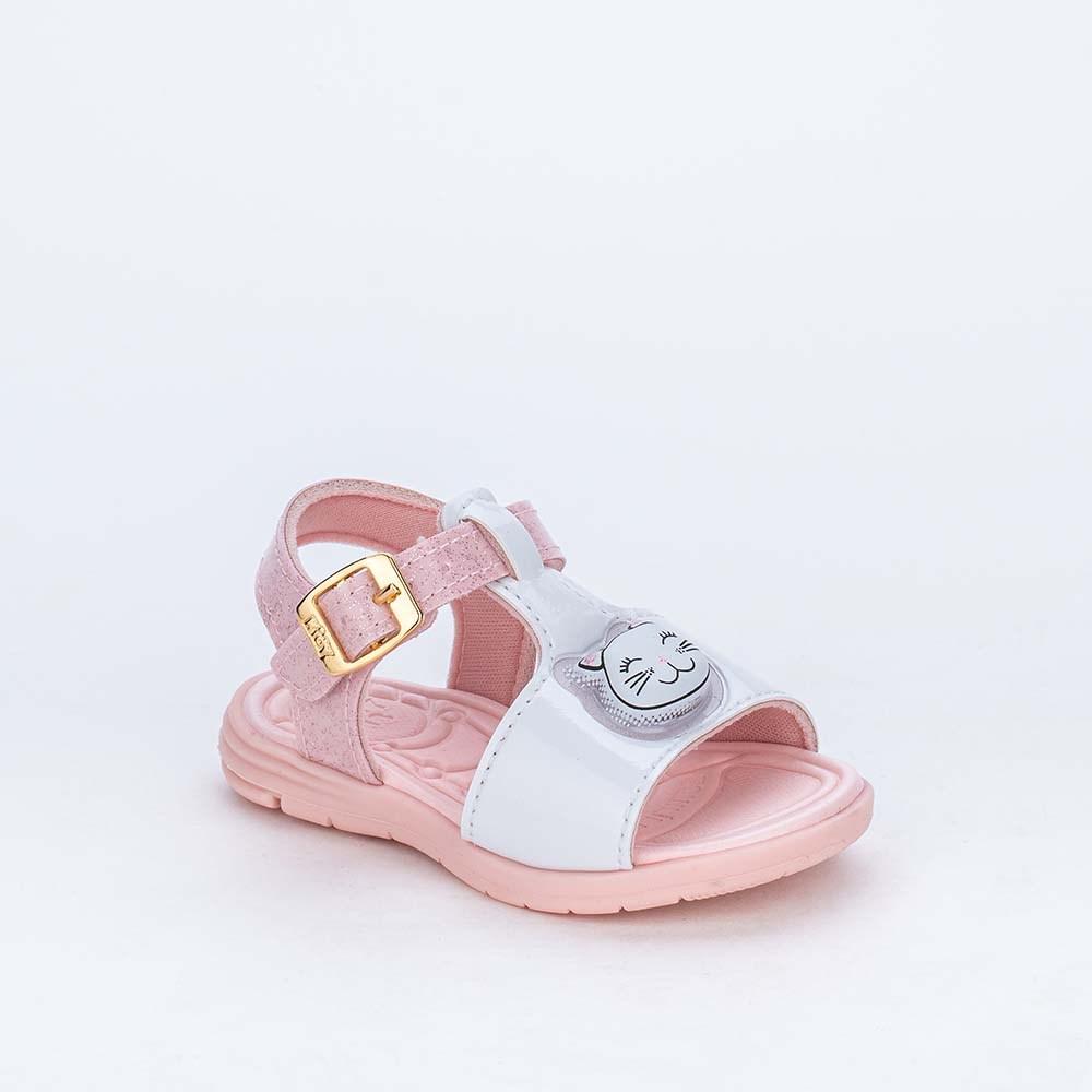 Sandália de Led para Bebês Kidy com Gatinha de Luz Branca