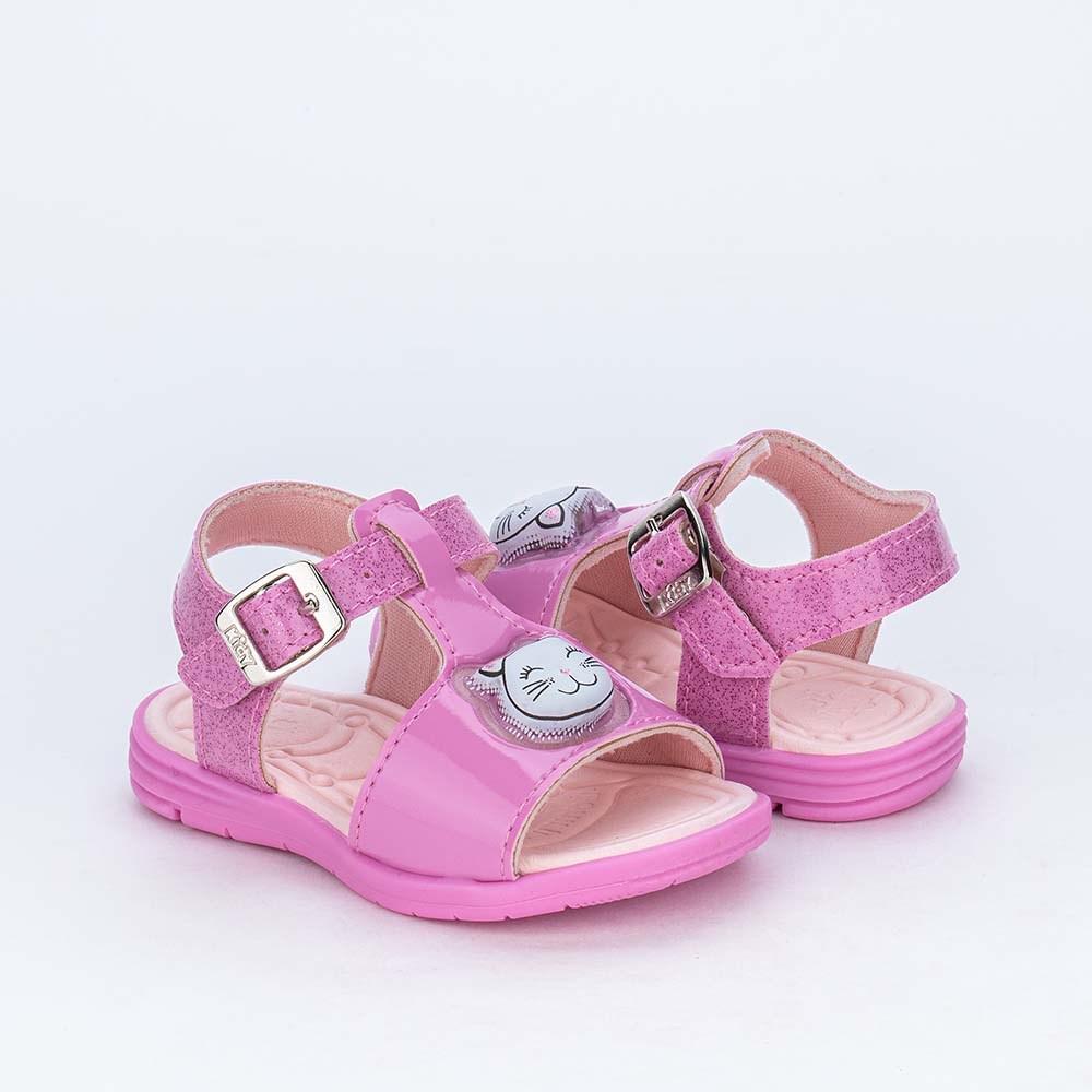 Sandália de Led para Bebês Kidy com Gatinha de Luz Orquídea