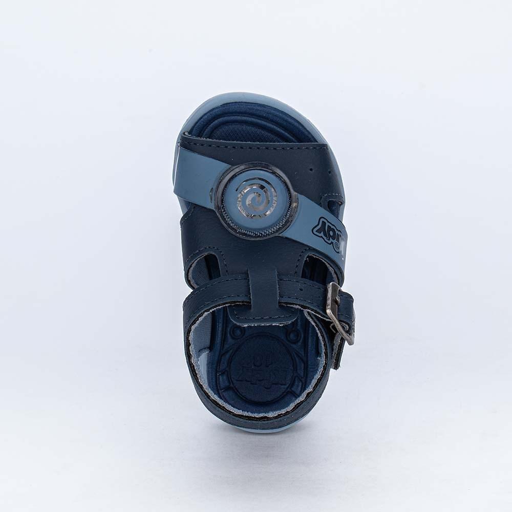 Sandália de Led para Bebês Kidy Light Marinho e Azul Stone