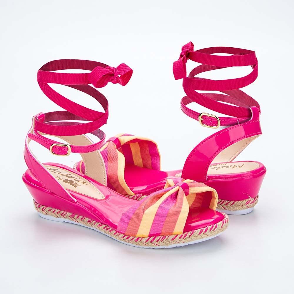 Sandália Infantil Anabela Kidy Madrid Pink e Amarelo